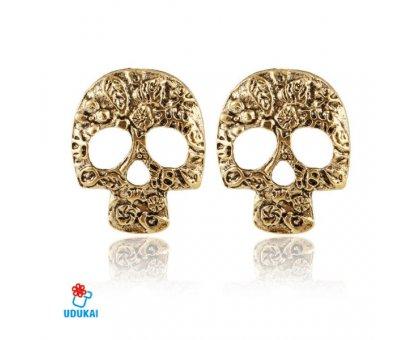 Auskarai Bronze Skull; 2vnt