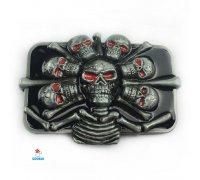 Diržo sagtis Skulls-3602; 7.2x9.6cm