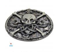 Diržo sagtis Skull-207; 6.2x8.0cm