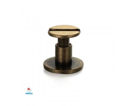 Kniedė užsukama bronzos spalvos; 9.0x6.5mm