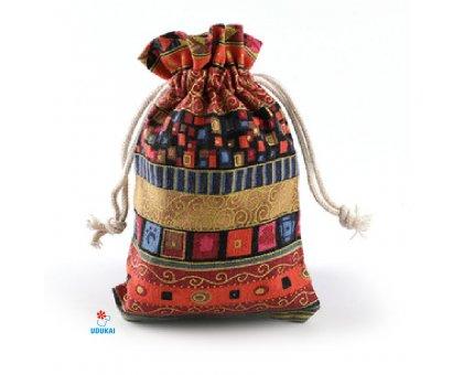 Dovanų maišelis medžiaginis Fiesta Red; 10x14cm