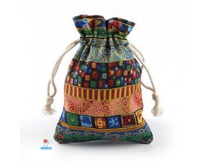 Dovanų maišelis medžiaginis Fiesta Green; 10x14cm