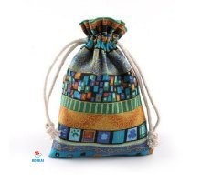 Dovanų maišelis medžiaginis Fiesta Blue; 10x14cm
