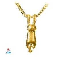 Kaklo pakabukas auksinis Katinas; 20x5mm