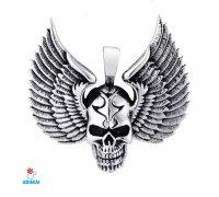 Kaklo pakabukas Skull Wings; 48x50mm