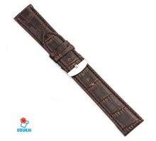 Laikrodžio dirželis Croco rudas; 20mm