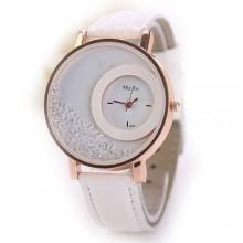 Laikrodis Crystal White; kvarcinis