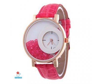 Laikrodis Crystal Pink; kvarcinis