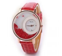 Laikrodis Crystal Red; kvarcinis