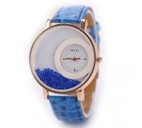 Laikrodis Crystal Blue; kvarcinis