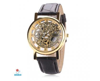 Laikrodis Skeleton McyKcy Gold; kvarcinis