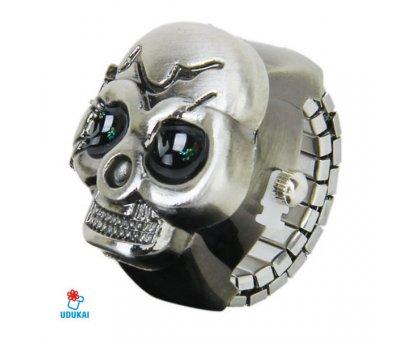Laikrodis - žiedas Kaukolė