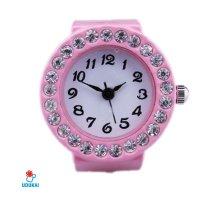 Laikrodis žiedas Pink; kvarcinis