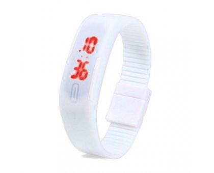 Sportinis laikrodis LED White