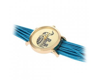 Laikrodis Drambliukas Melsvas; kvarcinis
