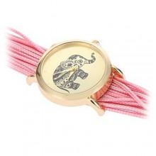 Laikrodis Drambliukas Rožinis; kvarcinis