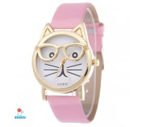 Laikrodis Kitty Pink; kvarcinis