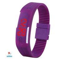 Sportinis laikrodis LED Purple
