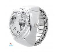 Laikrodis žiedas Širdelė Bozhi; kvarcinis
