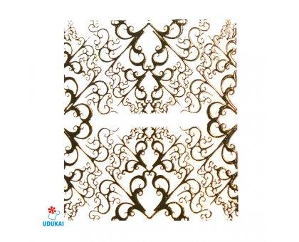 Lipdukai nagams Auksinis 3D ornamentas 316