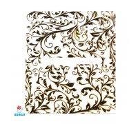 Lipdukai nagams Auksinis 3D ornamentas 324