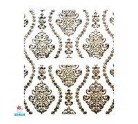 Lipdukai nagams Auksinis 3D ornamentas 326