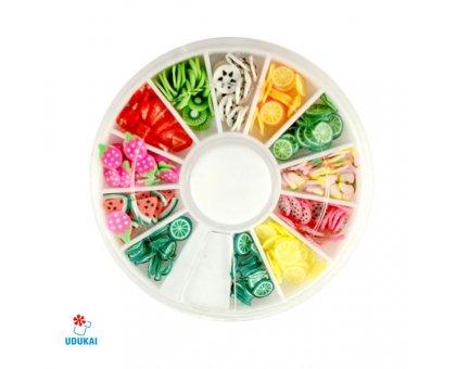 Dekoracijos nagų puošybai Fruit 3D; 3-5mm