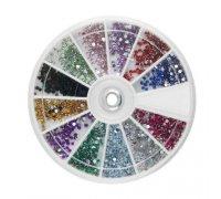 Kristalai nagų puošybai Rainbow