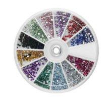 Kristalai nagų puošybai Rainbow; 1mm
