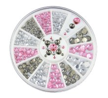 Kristalai nagų puošybai Silver Pink; 1-4mm