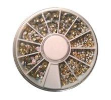 Kristalai nagų puošybai Perliukai; 1-4mm