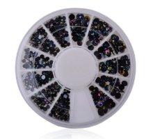 Kristalai nagų puošybai Black Gold; 1-4mm