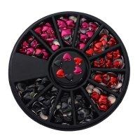 Kristalai nagų puošybai Hearts; 3-4mm