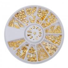 Kristalai nagų puošybai Gold Ornament; 1-4mm