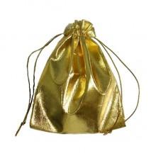 Dovanų maišelis auksinis; 7x9cm