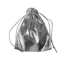 Dovanų maišelis sidabrinis; 7x9cm