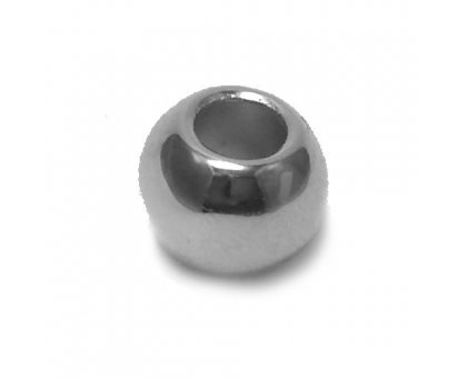 Karoliukas akrilinis Silver-B2663; 4.5/11mm