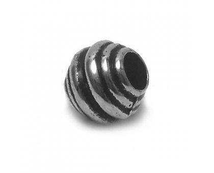 Karoliukas akrilinis Silver-B2665; 4.5/11mm