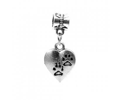 Karoliukas metalinis Širdis