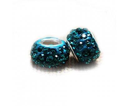 Karoliukas Colour Kristal B su turkio spalvos kristalais; 5/13mm