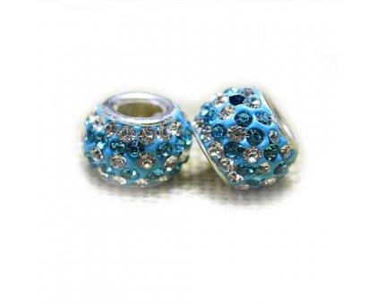 Karoliukas Colour Kristal SB su žydrais kristalais; 5/13mm