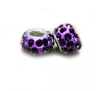 Karoliukas Colour Kristal V su violetiniais kristalais; 5/13mm