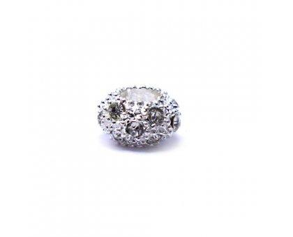 Karoliukas White Kristal W su bespalviais kristalais; 5.5/12mm
