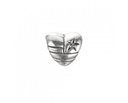 Karoliukas metalinis Širdele