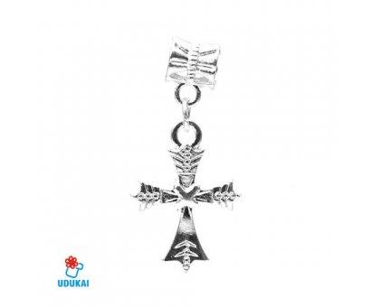 Karoliukas metalinis Kryžius