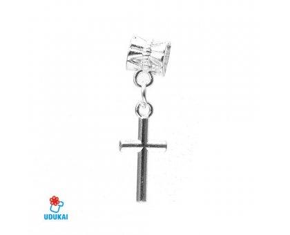 Karoliukas metalinis Kryžiukas