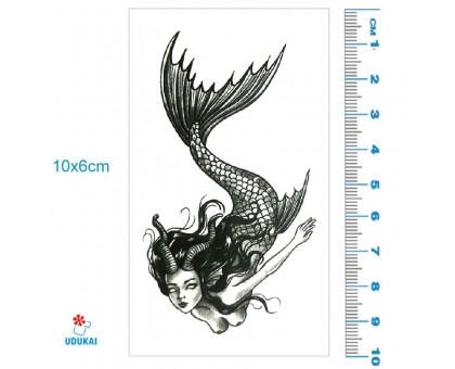 Laikina tatuiruotė Undinė 83010; 10x6cm