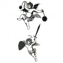 Laikina tatuiruotė Angeliukai 83015; 10x6cm