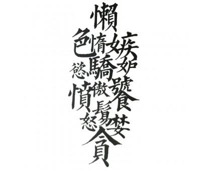Laikina tatuiruotė Hieroglifai 83041; 10x6cm