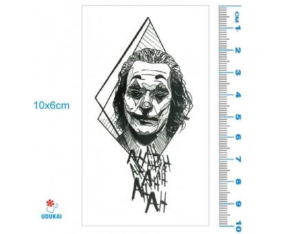 Laikina tatuiruotė Joker 83048; 10x6cm